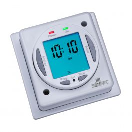 White horizontal timers element - Electric bathroom radiators with timer ...