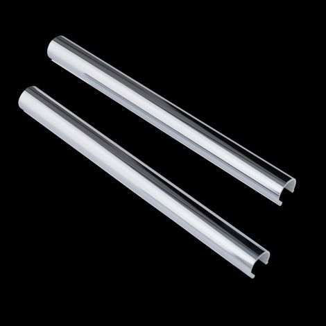 Chrome Plated Plastic Snap On Sleeves To Tidy 15mm Copper Pipework - 1 x Pair