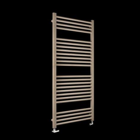 Bisque Deline Beige Quartz Heated Towel Rail - 1226mm high x 600mm wide