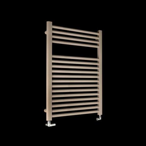 Bisque Deline Beige Quartz Short Heated Towel Rail - 766mm high x 600mm wide