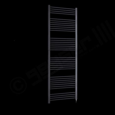 Bisque Deline Volcanic Anthracite Tall & Large Electric Towel Rail - 1866mm high x 600mm wide