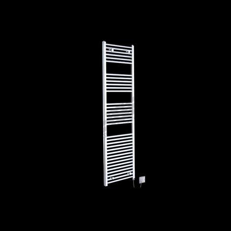 Chrome Straight Ladder Tall Electric Towel Rail 1720mm high x 450mm wide