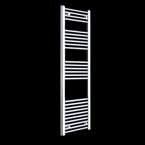 Chrome Straight Ladder Tall Slim Heated Towel Rail 1600mm high x 400mm wide
