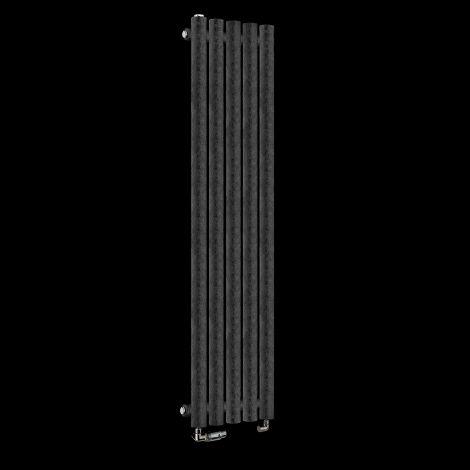 Circolo Thin Black Crocodile Designer Radiator 1200mm high x 260mm wide,