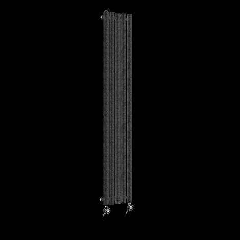 Circolo Ultra Thin Black Crocodile Electric Radiator 1200mm high x 260mm wide