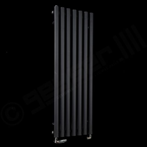 Circolo Thin Black Designer Radiator 1200mm high x 370mm wide