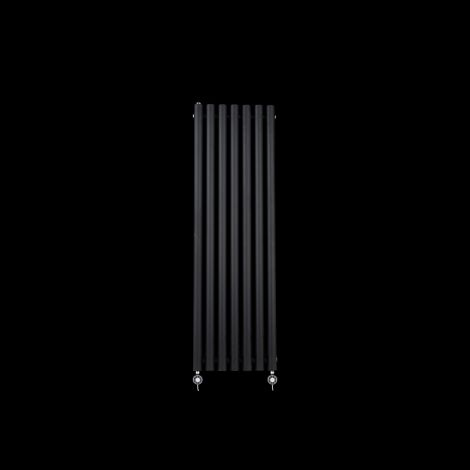 Circolo Thin Black Electric Radiator 1200mm high x 370mm wide