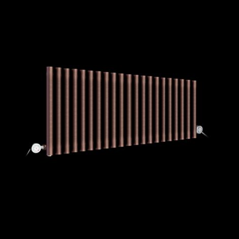 Circolo Low Level Chocolate Brown Electric Radiator 500mm high x 1195mm wide