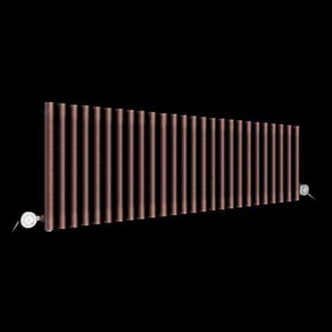 Circolo High Output Chocolate Brown Electric Radiator 500mm high x 1470mm wide