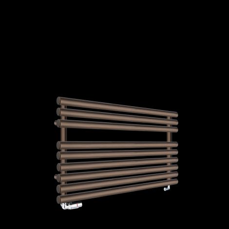 Cirtowelo Chocolate Brown Short Low Level Heated Towel Rail 600mm high x 900mm wide