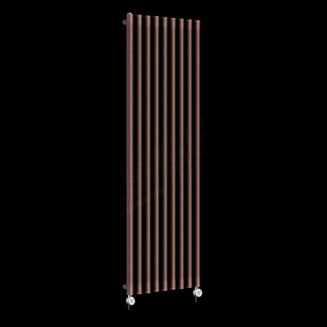 Circolo High Output Chocolate Brown Electric Radiator 1800mm high x 480mm wide