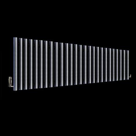 Circolo High BTU Dark Grey Designer Radiator 500mm high x 1470mm wide