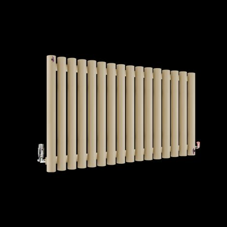 Circolo Light Cream Designer Radiator 500mm high x 865mm wide