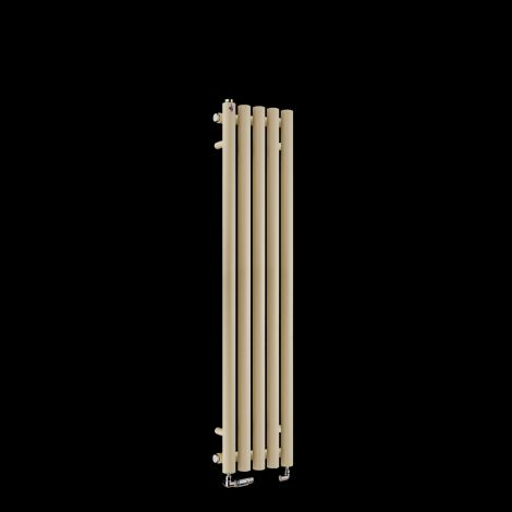 Circolo Thin Light Cream Designer Radiator 1200mm high x 260mm wide