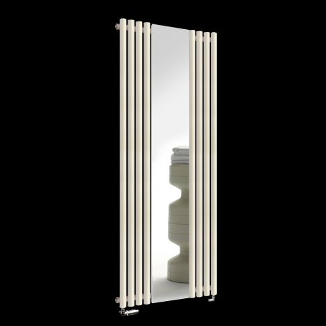 Circolo Light Cream Designer Mirror Radiator 1800mm high x 700mm wide