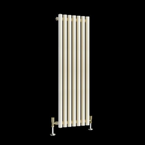 Circolo Thin Very Light Cream Designer Radiator 1200mm high x 370mm wide
