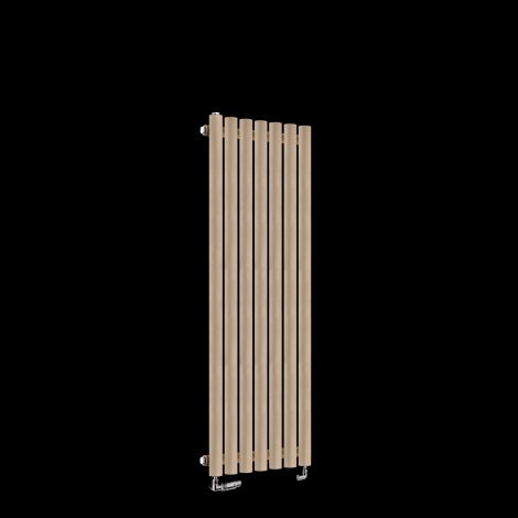 Circolo Thin Sand Brown Designer Radiator 1200mm high x 370mm wide