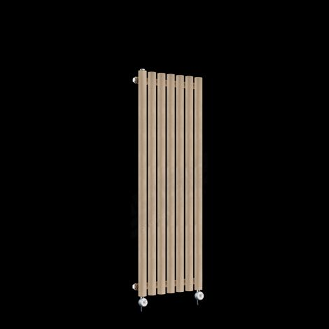 Circolo Thin Sand Brown Electric Radiator 1200mm high x 370mm wide