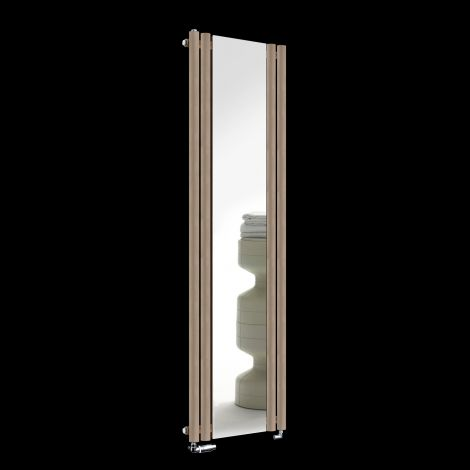 Circolo Sand Brown Designer Mirror Radiator 1800mm high x 480mm wide