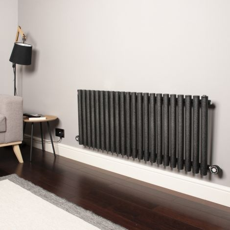 Circolo Low Level Black Pepper Electric Radiator 500mm high x 1195mm wide