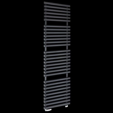 Cirtowelo Black Tall Large Heated Towel Rail 1800mm high x 520mm wide