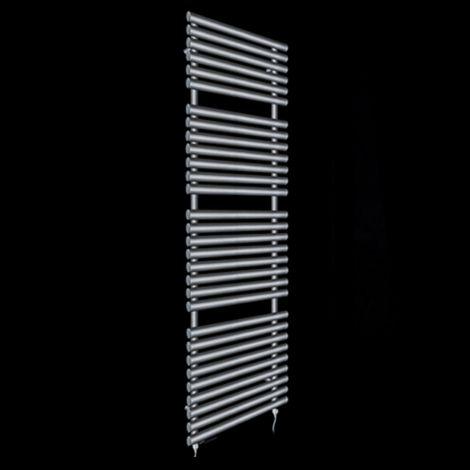 Cirtowelo Dark Grey Tall Large Electric Towel Rail 1800mm high x 520mm wide