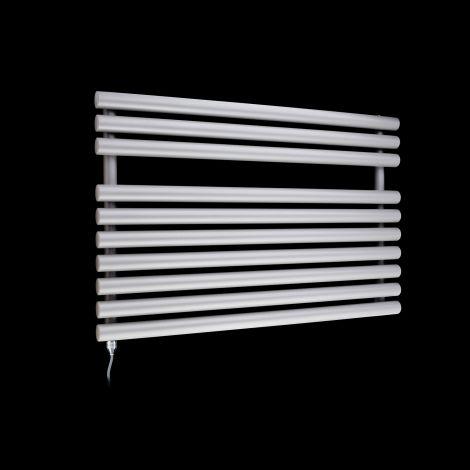 Cirtowelo Light Grey Short Low Level Electric Towel Rail 600mm high x 900mm wide