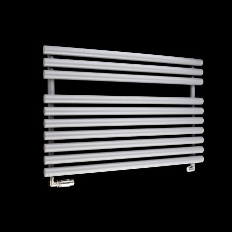 Cirtowelo Light Grey Short Low Level Heated Towel Rail 600mm high x 900mm wide