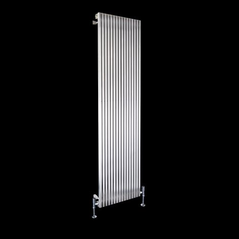 Cubo Brushed Steel Single Panel Radiator 1800mm high x 470mm wide