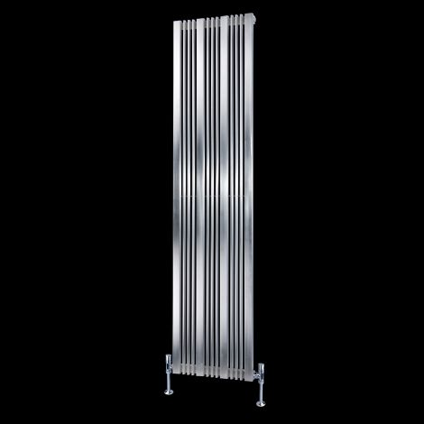 Elevato Brushed Steel Tall Designer Radiator 1800mm high x 430mm wide