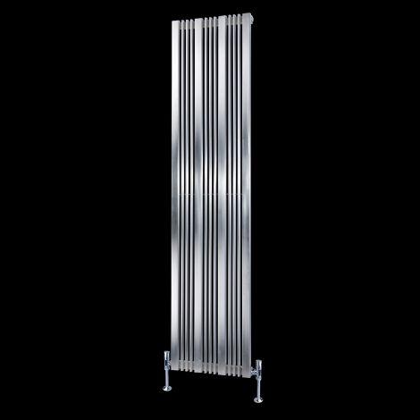 EX-DISPLAY Elevato Brushed Steel Tall Designer Radiator 1800mm high x 430mm wide
