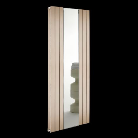 Empoli Sand Brown Tall Designer Mirror Radiator 1800mm high x 759mm wide