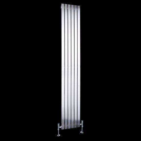 Flasteel Brushed Steel Single Panel Radiator 1800mm high x 290mm wide
