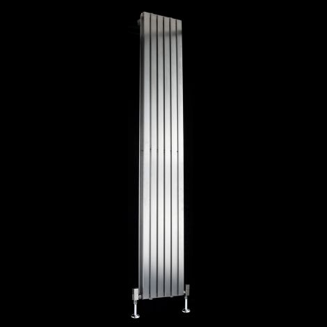 Flasteel Brushed Steel Double Panel Radiator 1800mm high x 290mm wide