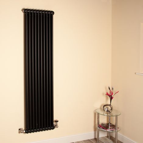 Old Style Tall Slim Matt Anthracite 2 Column Radiator 1800mm high x 474mm wide,Small Image,Thumbnail Image,Thumbnail Image,Small Image,Thumbnail Image,Small Image