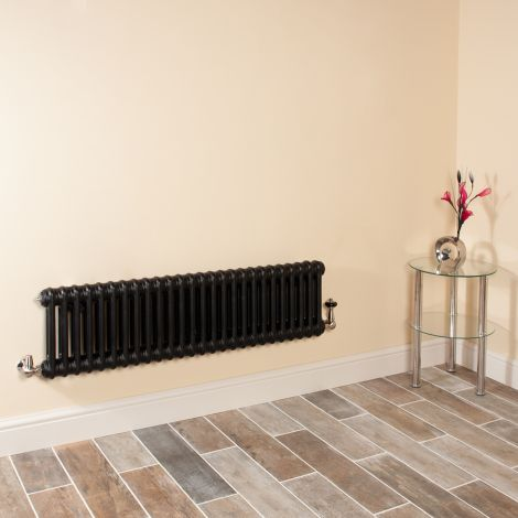 Old Style Low Level Matt Anthracite 2 Column Radiator 300mm high x 1194mm wide,Small Image,Thumbnail Image,Thumbnail Image,Small Image,Thumbnail Image,Small Image