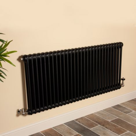 Old Style Matt Anthracite 2 Column Radiator 600mm high x 1329mm wide,Small Image,Thumbnail Image,Thumbnail Image,Small Image,Thumbnail Image,Small Image