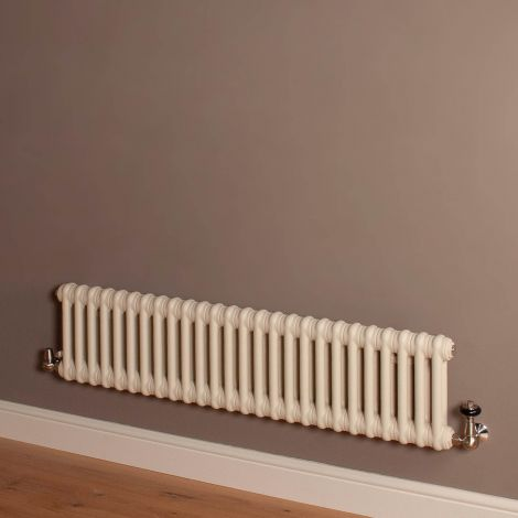 Old Style Low Level Matt Cream 2 Column Radiator 300mm high x 1194mm wide,Thumbnail Image,Small Image,Small Image,Thumbnail Image,Thumbnail Image,Small Image