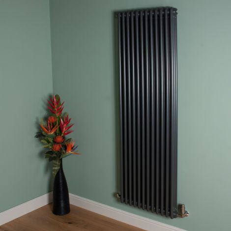 Old Style 10000 BTU Gunmetal Grey 3 Column Radiator 1800mm high x 564mm wide,Small Image,Thumbnail Image,Small Image,Thumbnail Image,Thumbnail Image,Small Image
