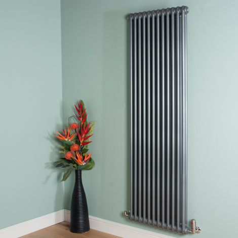 Old Style High Output Mid Grey 2 Column Radiator 1800mm high x 564mm wide,Thumbnail Image,Thumbnail Image,Thumbnail Image,Thumbnail Image,Thumbnail Image,Thumbnail Image