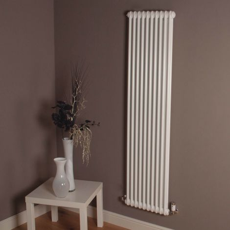 Old Style Tall Slim Gloss White 2 Column Radiator 1800mm high x 474mm wide,Small Image,Thumbnail Image,Small Image,Thumbnail Image,Thumbnail Image,Small Image