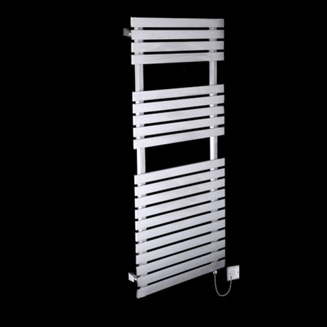 Oslo Brushed Stainless Steel Electric Towel Rail 1200mm high x 500mm wide