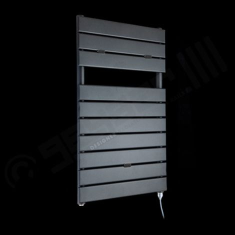 Lazzarini Palermo Anthracite Small Designer Electric Towel Rail 820mm high x 500mm wide