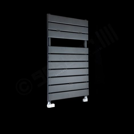 Lazzarini Palermo Anthracite Small Designer Heated Towel Rail 820mm high x 500mm wide