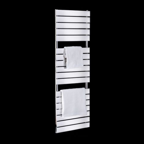 Lazzarini Palermo Chrome Tall Designer Electric Towel Rail 1500mm high x 500mm wide