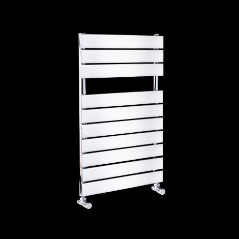 Lazzarini Palermo Chrome Small Designer Heated Towel Rail 820mm high x 500mm wide