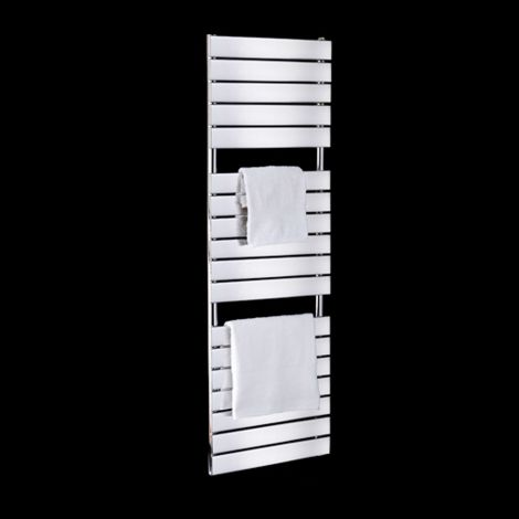 Lazzarini Palermo Chrome Tall Designer Thermostatic Electric Towel Rail 1500mm high x 500mm wide