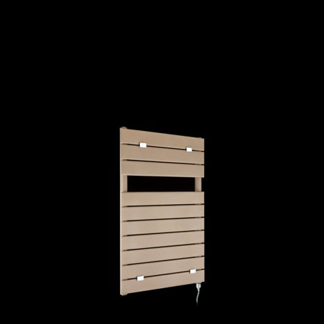 Lazzarini Palermo Sand Brown Small Designer Electric Towel Rail 820mm high x 500mm wide