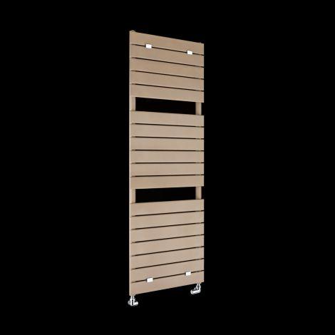 Lazzarini Palermo Tall Sand Brown Designer Heated Towel Rail 1500mm high x 500mm wide