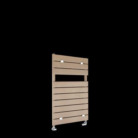 Lazzarini Palermo Sand Brown Small Designer Heated Towel Rail 820mm high x 500mm wide